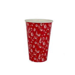 copo 300 ml vermelho gotas
