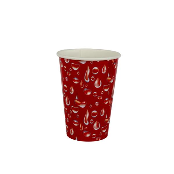copo 180 ml vermelho gotas