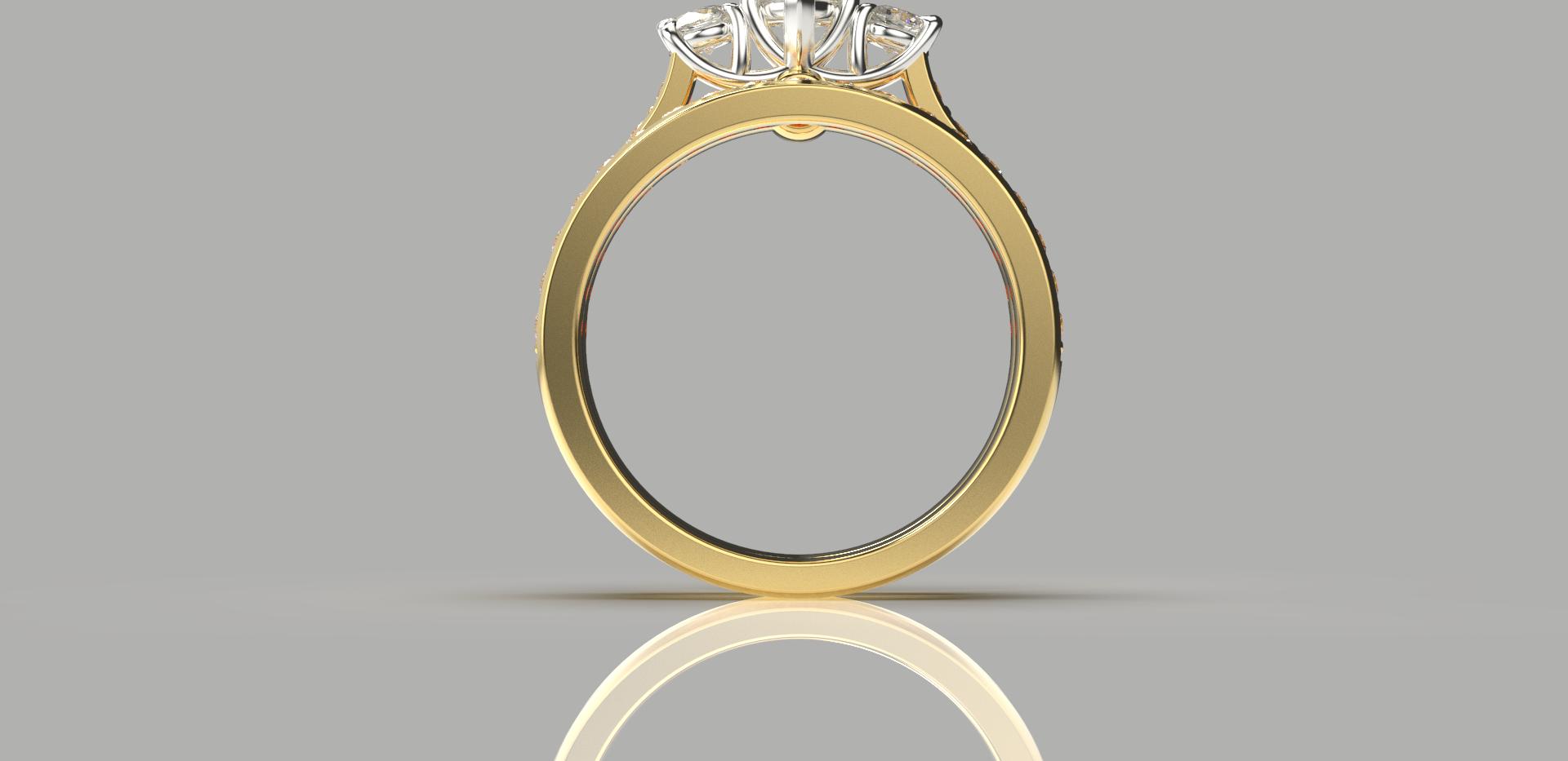 Bruce Trick - Heart Diamond Ringset fron