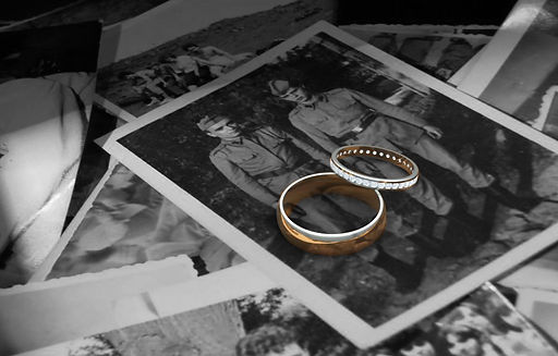 rings on old photograph