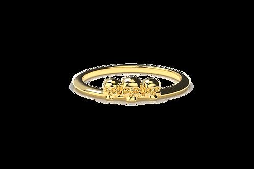 Three Skull Ring