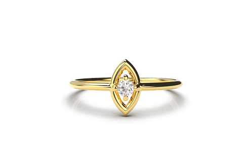 Marquise ring centred diamond