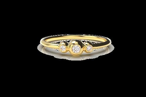 3 Ball Diamond Ring