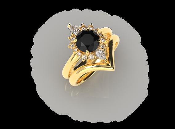 Bruce Trick - Black Diamond Ring Set per