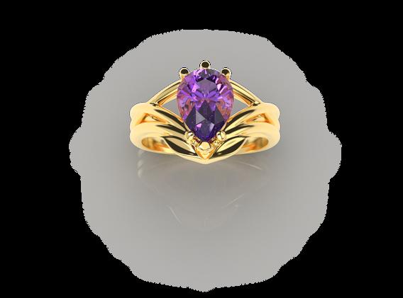 Bruce Trick - Gold Tanzanite Ring perspe