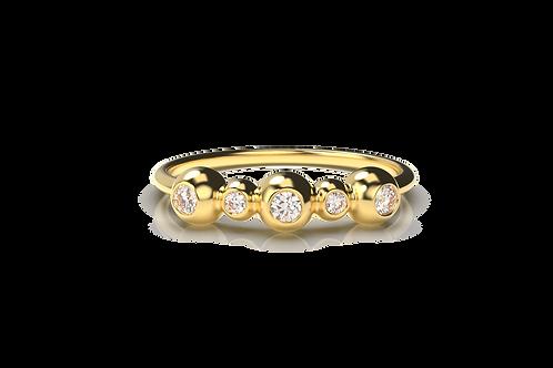 Five Orb Diamond Ring