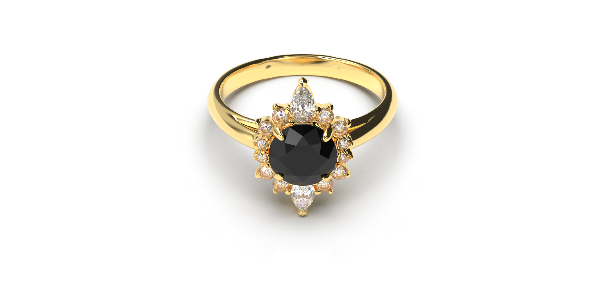 Bruce Trick - Black Diamond Ring Set dow