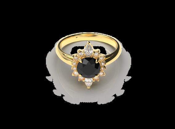 Bruce Trick - Black Diamond Ring Set dow