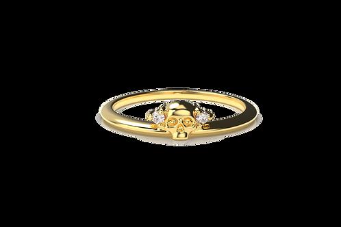 Skull Diamond Ring