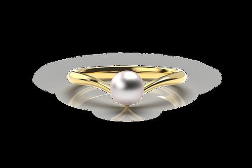 V Pearl Ring