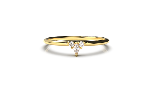 Diamond Marquise V Ring