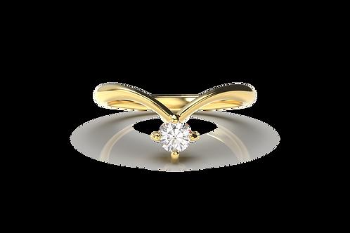 V Diamond Ring