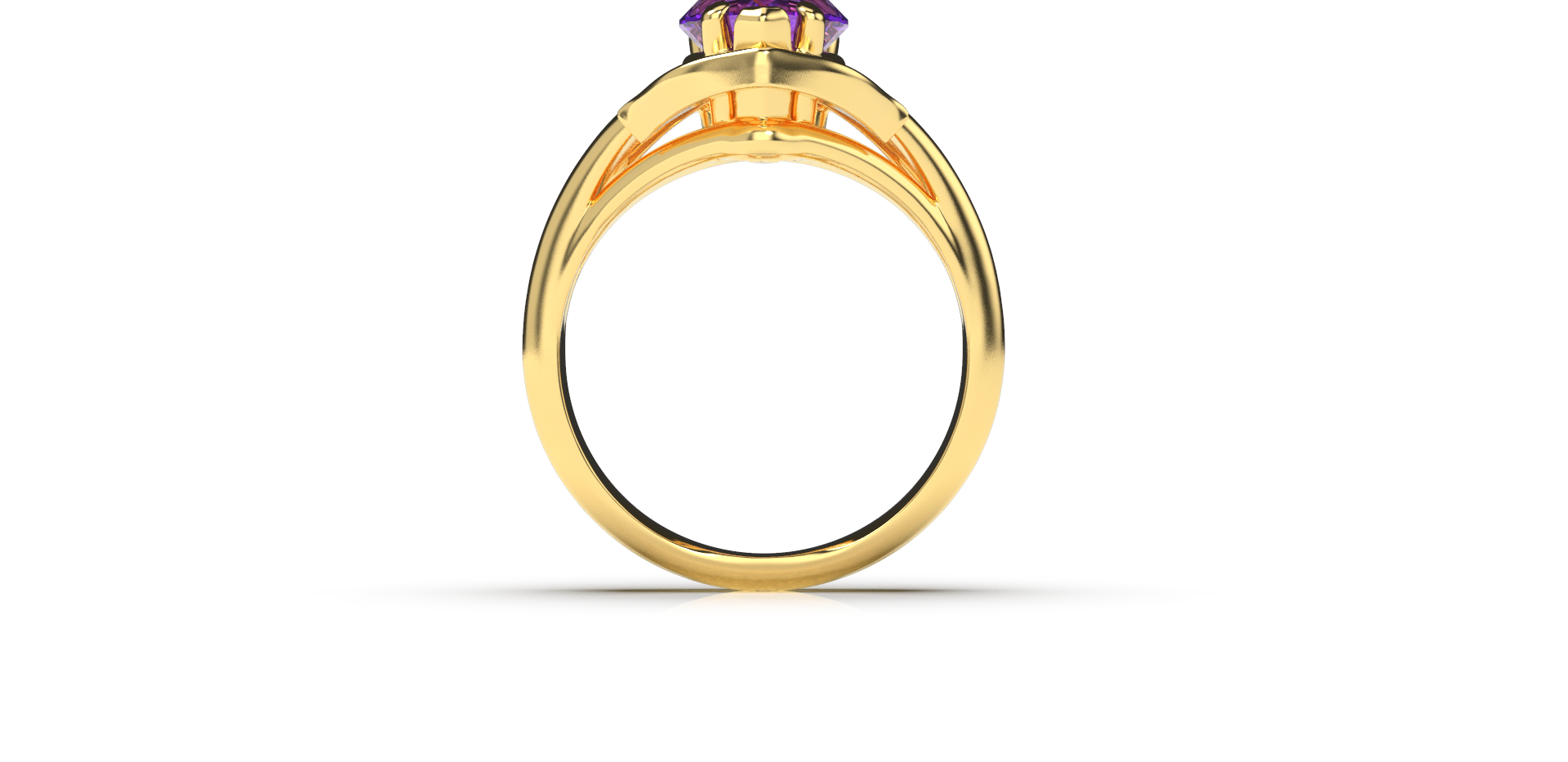Bruce Trick - Gold Tanzanite Ring front.