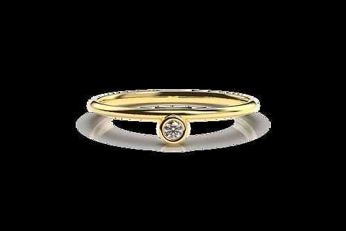 Offset Diamond Ring