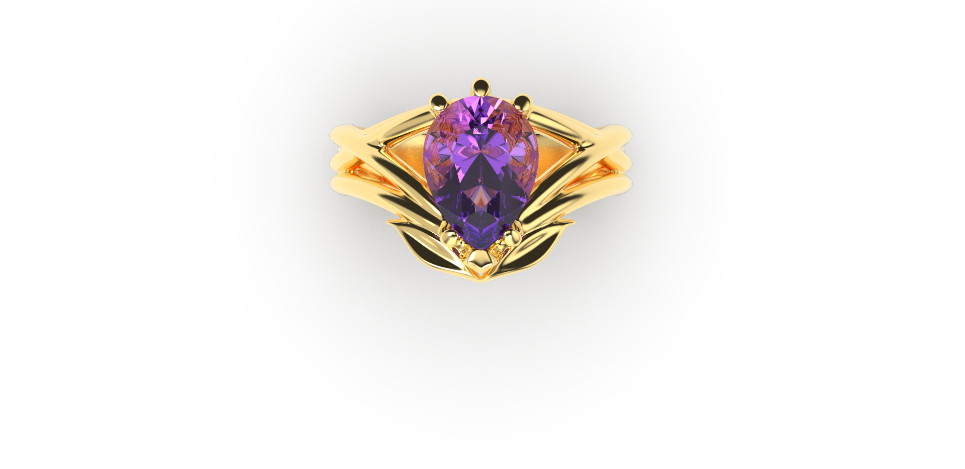 Bruce Trick - Gold Tanzanite Ring top.pn