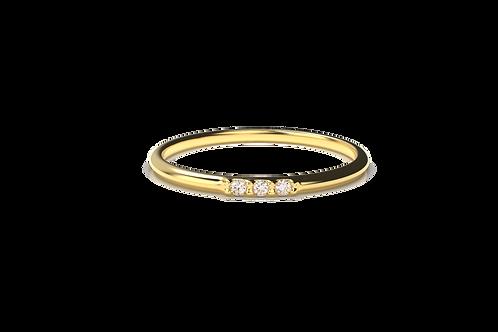 Inline Diamond Ring
