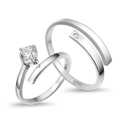 Matching Cubic Zirconia Rings
