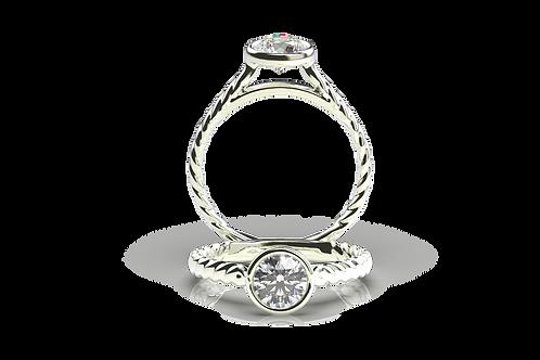 Diamond Rope Engagement Ring