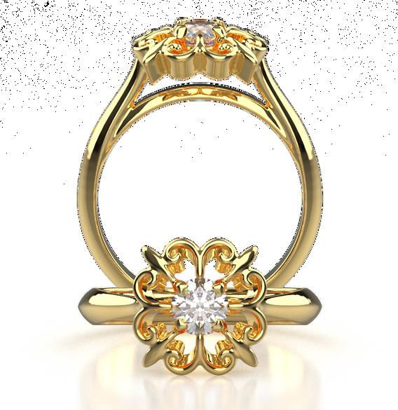 400-009 - YG Radiance Engagement Ring.png