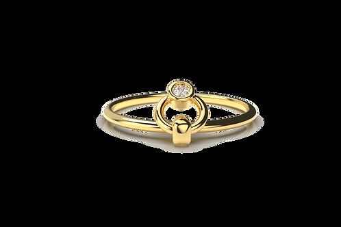 Diamond Door Knocker Ring