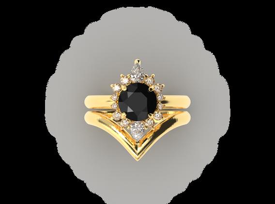 Bruce Trick - Black Diamond Ring Set top