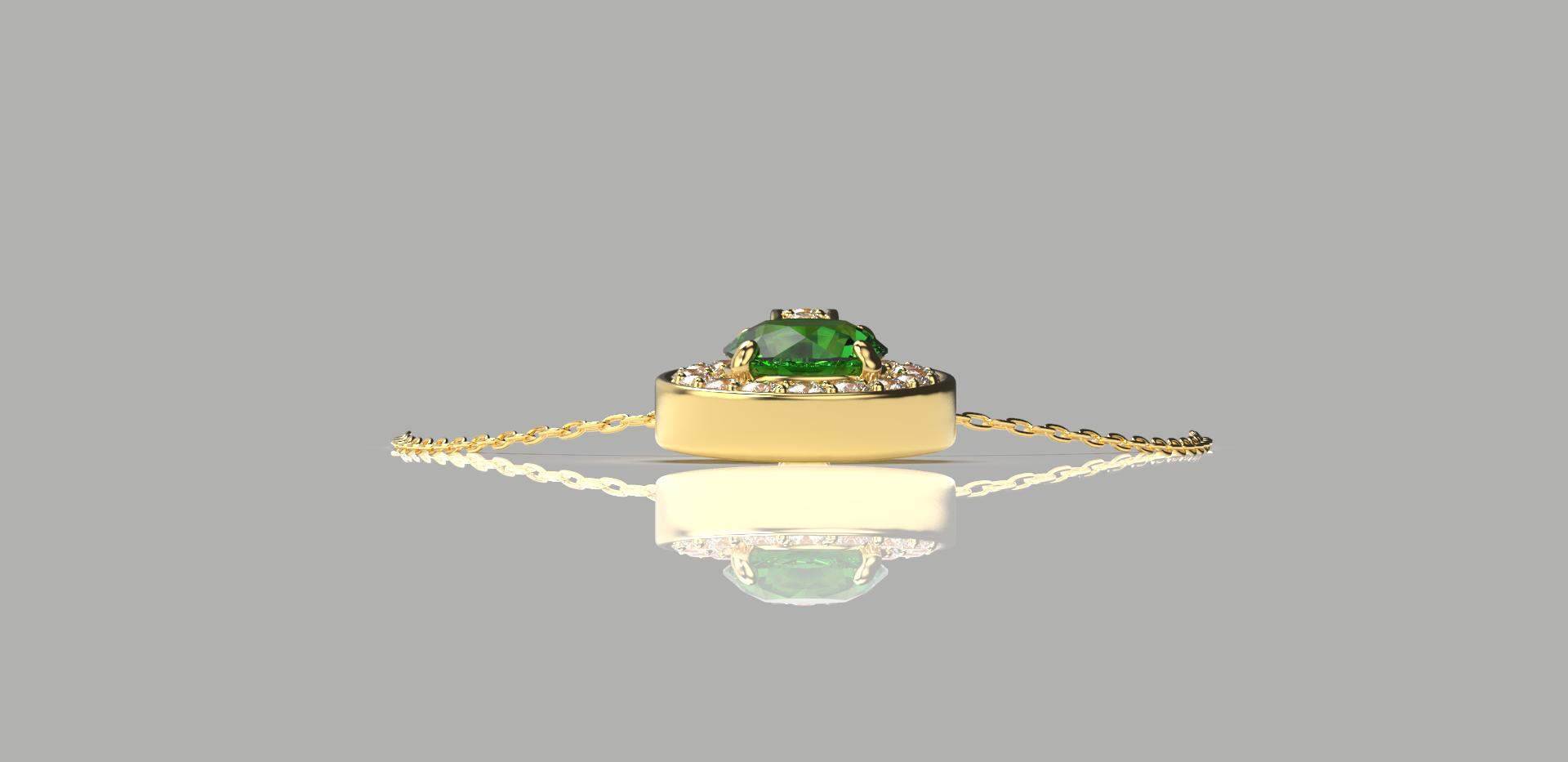 Bruce Trick - Emerald and Diamond Pendan
