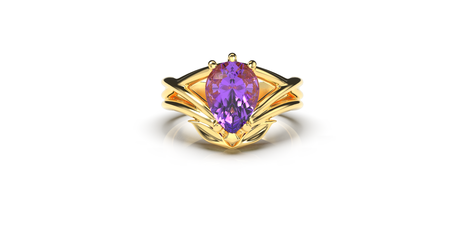 Bruce Trick - Gold Tanzanite Ring down.p