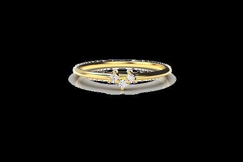 Diamond Small V Ring