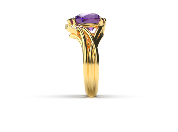 Bruce Trick - Gold Tanzanite Ring side.p
