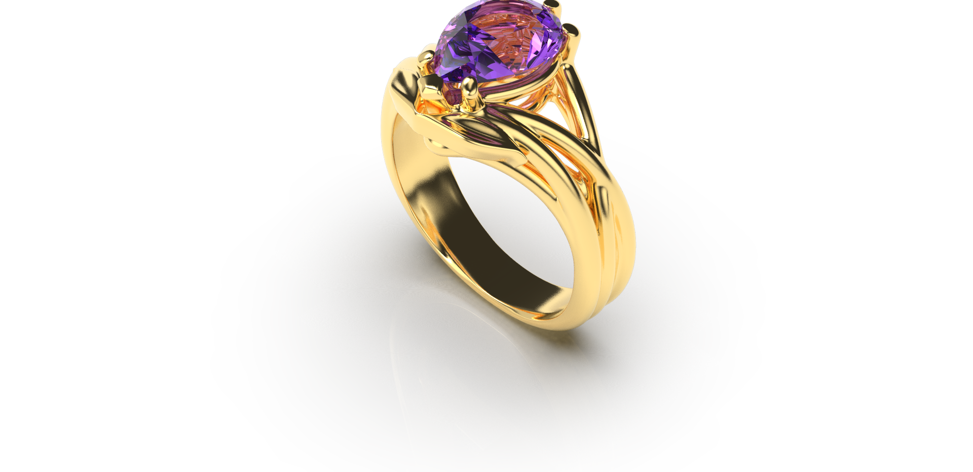 Bruce Trick - Gold Tanzanite Ring perspe