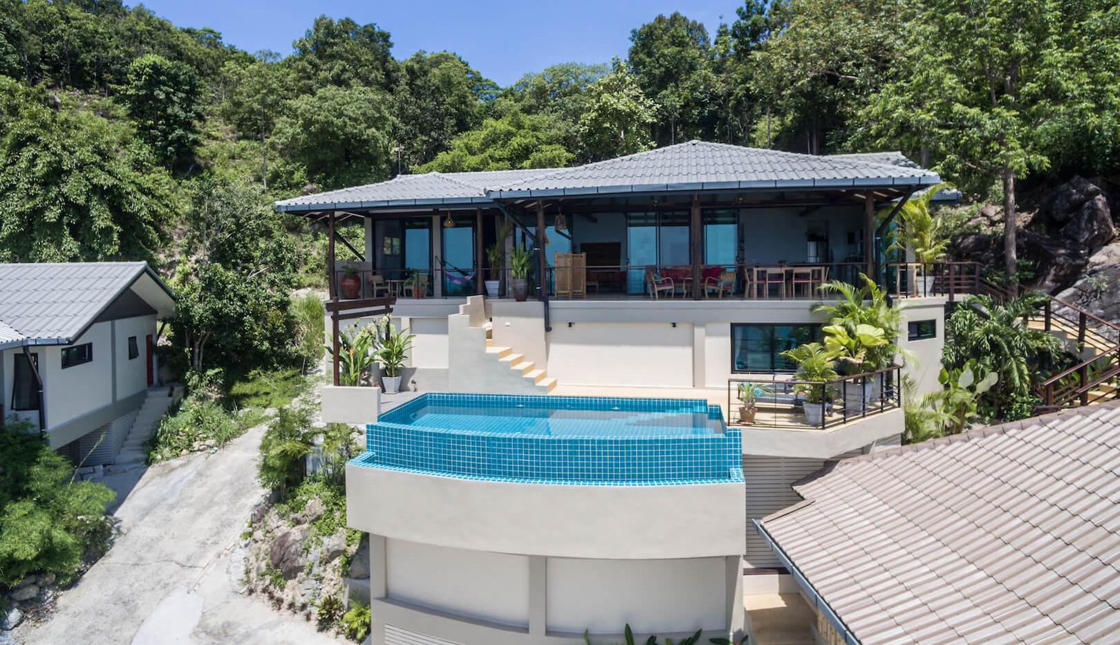 wings house-villa phangan lumbania drone