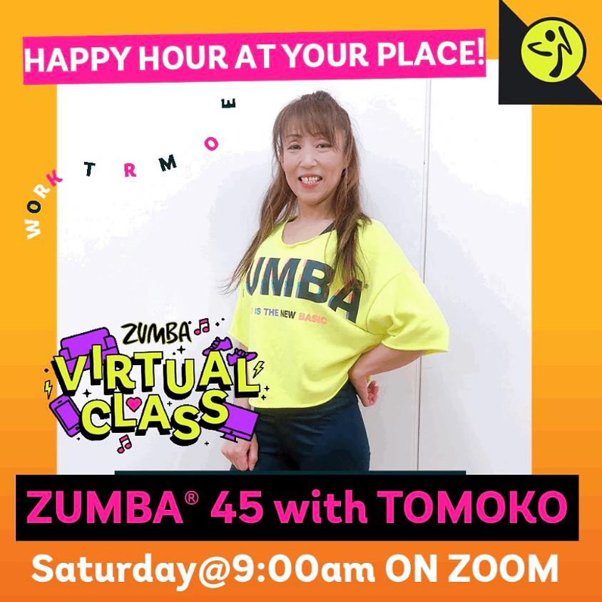 ★6/19(土)9:00~ ZUMBA® 45分【Zoomライブレッスン】(担当:TOMOKO)