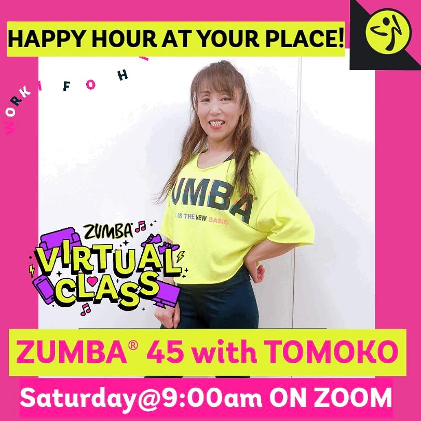 ★6/26(土)9:00~ ZUMBA® 45分【Zoomライブレッスン】(担当:TOMOKO)