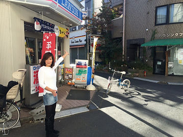 京王多摩川駅前ローソンを左折