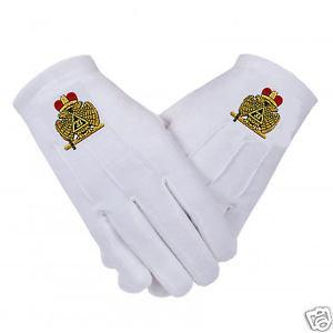 33rd Degree 2-Headed Eagle Gloves