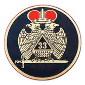 33rd Degree Crown Wing Car Decal