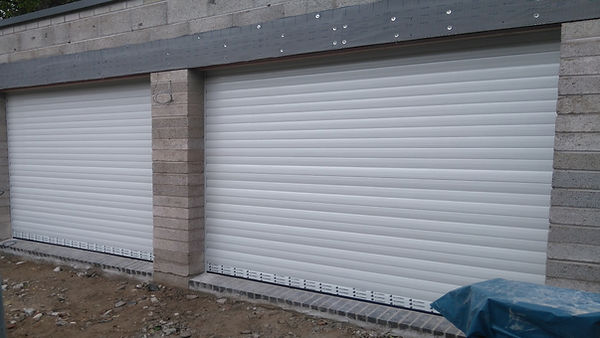 2matching pair of insulated roller doors