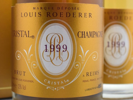 "19pts ""Very Satisfying"" Jancis Robinson, 1999 Louis Roederer Cristal at HK$2,390/Bt"