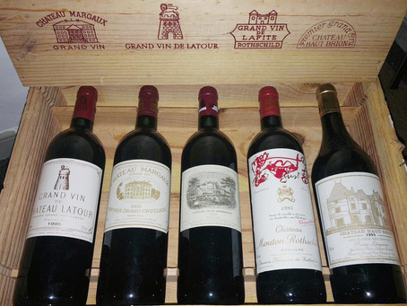 PLACE A BID: 1995 Bordeaux First Growth Collectors Assortment Case Starting from HK$19,000