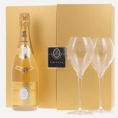 Cristal (Gift-box set with two champagne glasses) 2008 | Louis Roederer (1*75cl)