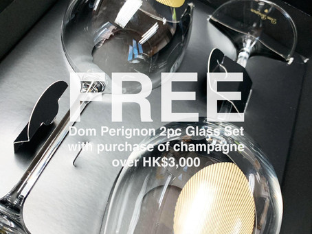 FREE Dom Perignon Champagne Glass Set for Purchase of Champagne Over HK$3,000