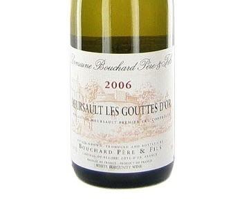 "Allen Meadows' ""Outstanding"" Recommendation - Bouchard Meursault Goutte d'Or 1er C"