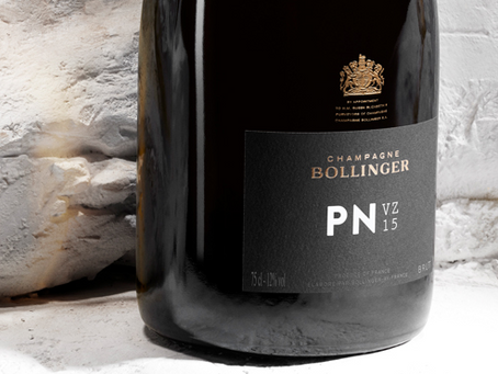 """Bollinger's New Cuvee Release! Blanc de Noirs """"PN VZ15 NV"""", Available in Loose"""