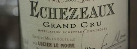 Small parcel from Lucien Le Moine Grand Cru 2003 - Echezeaux, Clos de la Roche and Clos St Denis, le