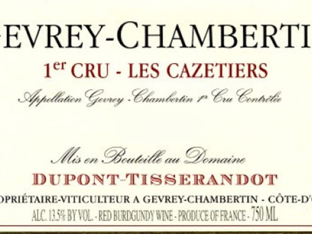The Very Last of Dupont-Tisserandot Gevrey-Chambertin Cazetiers 1er Cru 2012 at HK$565/Bt Only!