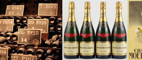 Old Champagne Cellar Dating Back to the 1960s! Dom Perignon, Ruinart, Moet, Perrier Jouet...