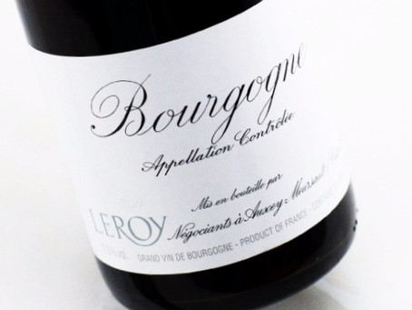 A taste of Leroy excellence: Leroy Bourgogne Rouge 2015 and Bourgogne Blanc 2011
