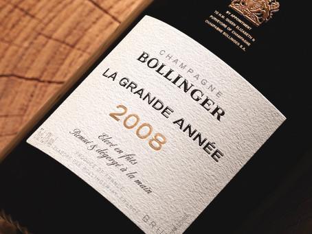 Don't Miss! Excellent Champagne, Last Parcel of 2008 Bollinger La Grande Annee Brut