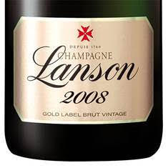 Best Market Price - $330/bt 94 pts Champagne Lanson Gold Label 2008, direct shipping from the house