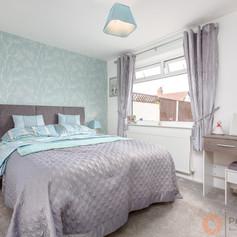 Delightful grey bedroom
